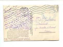 """Cp En Franchise Avec Cachet Bleu """" AVIGNON Centre D'organisation Du Génie 515"""" - Marcophilie (Lettres)"""