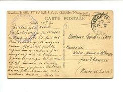 """Cp En Franchise Avec Cachet Bleu """" Groupe De Renforc T De L'A.C. Chatillon Le Vaguemestre"""" - Marcophilie (Lettres)"""