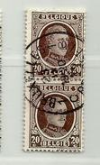 (496) Timbre Belgique Roi Albert I   N° 196 - 20c - 1922-1927 Houyoux