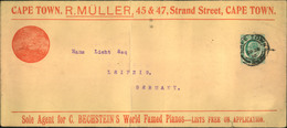 1910, Printed Matter From BECHSTEIN AGENTS, Famed Pianos In Cape Town To Leipzig - Musique
