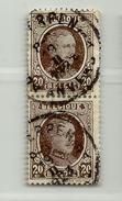 (497) Timbre Belgique Roi Albert I   N° 196 - 20c - 1922-1927 Houyoux