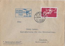 1.SCHW.HELICOPTER-POST → Brief Zürich-Bern 23.Sept.1948   ►SBK-283◄