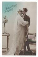 NOCES - CP COLORISEE COUPLE DE JEUNES MARIES - FELICITATIONS SINCERES - ASA ? N° 4940 - Melle FUNCK MONTMIRAIL MARNE - Noces