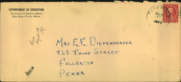 1929, Business Letter From PAGO PAGO To USA - Samoa Américaine