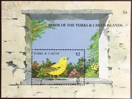 Turks & Caicos 1990 Birds Yellow Warbler Minisheet MNH - Unclassified