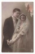 NOCES - CP COLORISEE COUPLE DE JEUNES MARIES - SINCERES FELICITATIONS - ROTO N° 5385 - Noces