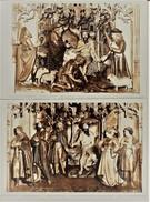 """!! Schoonbroek ( Retie ) """" Zicht Op St.Job Retabel In De Kapel Of Kerk - 2 Oude Foto Ca. '30"""