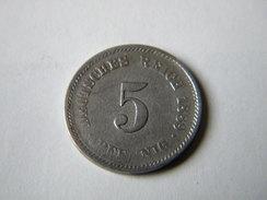ALLEMAGNE - 5 PFENNIG 1889.A. - [ 2] 1871-1918 : Empire Allemand