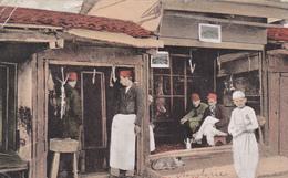 ALBANIE. CPA TRÈS RARE. SHKODORA. BOUCHERIE. ANNÉE 1918 - Albanien