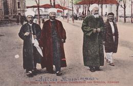 ALBANIE. CPA TRÈS RARE. SHKODORA. PRETRES MUSULMANS. ANNÉE 1918 - Albanien