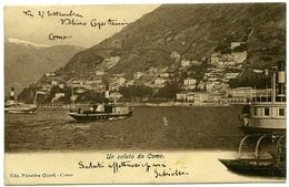 ITALIE : COMO - UN SALUTO / POSTMARK - COMO, 1898