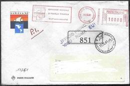 "Italia/Italy/Italie: Ema, Meter, ""Genova '92"", Posta Celere, Express Post, Courrier Express - Exposiciones Filatélicas"