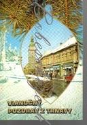 7-51 CZECHOSLOVAKIA 1978 Town Tower To Trnava's Silhouette   Christmas Greeting From Trnava Christmas Card - Souvenir De...