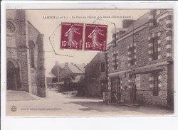 LABOSSE : La Place De L'eglise Et La Route D'ercé En Lamée - Tres Bon Etat - Frankreich