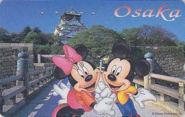 Télécarte Japon / 110-197403 - DISNEY - Série Voyage N° 23 - CHATEAU OSAKA CASTLE/ MICKEY & MINNIE - Japan Phonecard - Disney