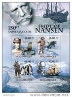 MOZAMBIQUE 2011 - Fridtjof Nansen, Penguins - Mi 4489-92
