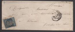 CERES N 4 Sur Lettre, Grille ,  Voir Scan Recto Verso, Cachet Cire Rouge - 1849-1850 Cérès