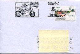 18539 Spain, Special Postmark Fdc Jerez De La Frontera 2016 World Capital Of Motor Racing, Speedway Racing