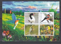 Cabo Verde 2016,4V In Block,IMP,birds,blauwvleugel,vogels,vögel,oiseaux,pajaros,uccelli,aves,MNH/Postfris(L2991) - Oiseaux
