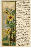 CPA ART NOUVEAU - TOURNESOLS - 1900-1949
