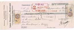 LEON ROBERT BERNARD A GRENOBLE - Bills Of Exchange