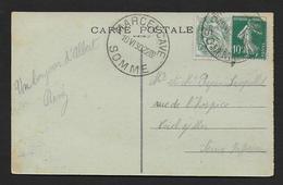 Somme -  Grand Cachet  MARCELCAVE ( Diamètre 33 Mm ) - Marcophilie (Lettres)