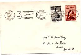 Lettre De Argentine (22.02.1971) Pour Dour_pingouins Et Cormoran_Antartique