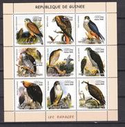 Guinea 2002,9V In Block,birds Of Prey,birds,ijsvogel,vogels,vögel,oiseaux,pajaros,uccelli,aves,MNH/Postfris(L2993) - Eagles & Birds Of Prey