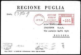 "Italia/Italy/Italie: Ema, Meter, ""Regione Puglia"", Ispettorato Provinciale Agricoltura"