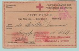 AUT8 Zensur/Censure Wien + Italienne.     CP Pour Un Prisonnier Italien En Autriche, à Feldbach - 1850-1918 Impero