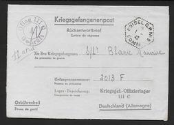 Somme -  Cachet Hexagonal Pointillé  ROISSEL C.P.N° 9  Sur Lettre En Franchise Pour Prisonnier De Guerre - Marcophilie (Lettres)