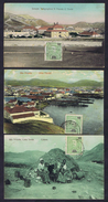 Cabo Verde São Vicente Estação Lote De 3 Cartões Postais. Télégraphica, Vista Parcial, Cobata 1911-1912. - Cap Vert