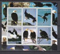 Turkmenistan 2000,6V In Block,birds Of Prey,birds,vogels,vögel,oiseaux,pajaros,uccelli,aves,MNH/Postfris(L2998) - Aigles & Rapaces Diurnes