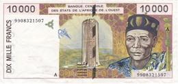 BILLETE DE COSTA DE MARFIL DE 10000 FRANCS DEL AÑO 1999 CALIDAD MBC (VF) (BANKNOTE) - Côte D'Ivoire
