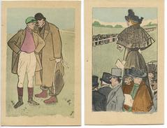 2 DESSINS IMPRIMES DE J. L. FORAIN - CHAMP DE COURSE - HIPPODROME - Other