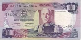 BILLETE DE ANGOLA DE 1000 ESCUDOS DEL AÑO 1972 (BANKNOTE) - Angola