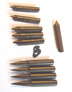 10 Plumes   MITCHELL'S JOHN EF 0131- F 132- B 0134 - CORRESPONDANCE PEN 09 F Et 010 M & WILLIAM-536 B - Vintage Pen - Plumes