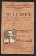 D 78 - POISSY - Carte D'identité Chemin De Fer De Grande Banlieue - Délivrée Le 27 Août 1933 -  Poissy à St Germain