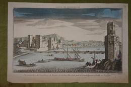 Vue D'optique XVIIIème - Espagne - Vue Du Fauxbourg De Trienne, De La Tour D'or Et Du Pont De Guadalquivir à Séville... - Estampas & Grabados