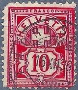 Ziffer 61A, 10 Rp.karminrot  THÖRISHAUS            1886