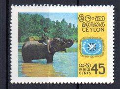 Sello Nº 381 Ceylan - Elefantes