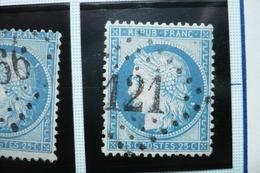 Ceres N°60   Varieté  Suarnet 100  (tache Derriere Cheveux) - 1871-1875 Cérès