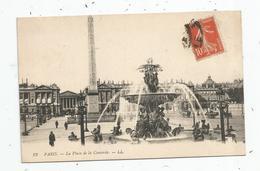 Cp , 75 , PARIS , La Place De La CONCORDE , Voyagée - Other