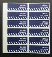 Singapore Post Airmail Sticker Postal Service (sheetlet) MNH