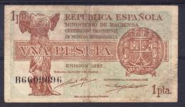 ESPAÑA 1937   1 PESETA  REPUBLICA ESPAÑOLA    MBC   B012 - [ 2] 1931-1936 : Republic
