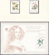 BELGIQUE  1990 - Flore / Roses  - Yvert 2354/2355 + BF 66 Neufs **