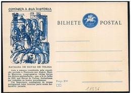 Portogallo/Portugal: Intero, Stationery, Entier, Battaglia Di Las Navas, Battle Of Las Navas, Bataille De Las Navas - Storia