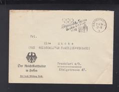 Dt. Reich Brief 1936 Reichsstatthalter In Hessen Olympia Stempel - Briefe U. Dokumente