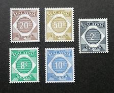 Malaysia Postage Due Stamp 1980 (stamp) MNH *no Watermark - Malaysia (1964-...)