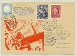 Nederland / Nederlands Indië - 1946 -Skymaster Openingsvlucht Nederland - Indië Naar Bandoeng En Terug